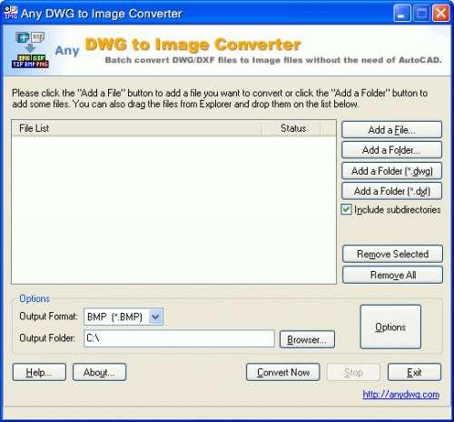 Capture d'écran DWG to Image Converter