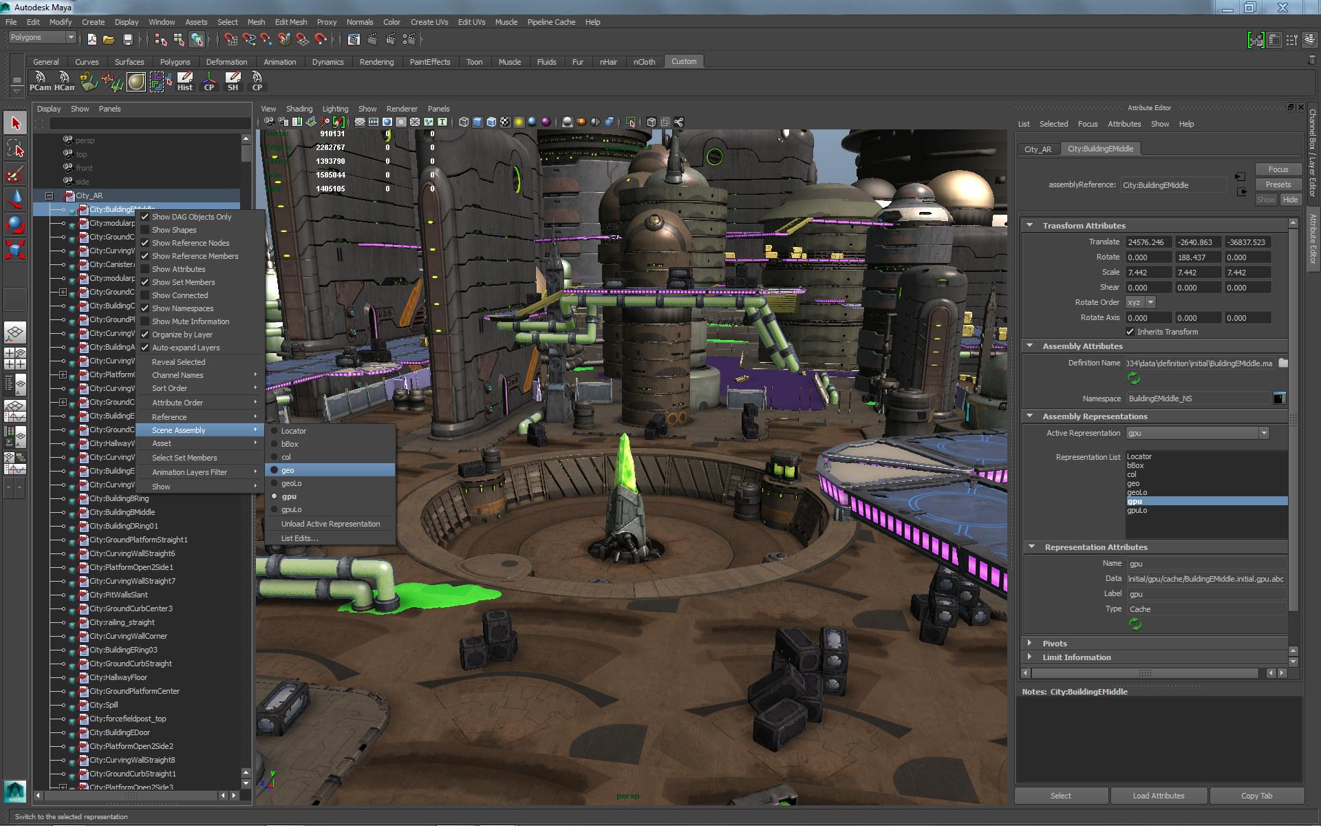 Capture d'écran Autodesk Maya Mac