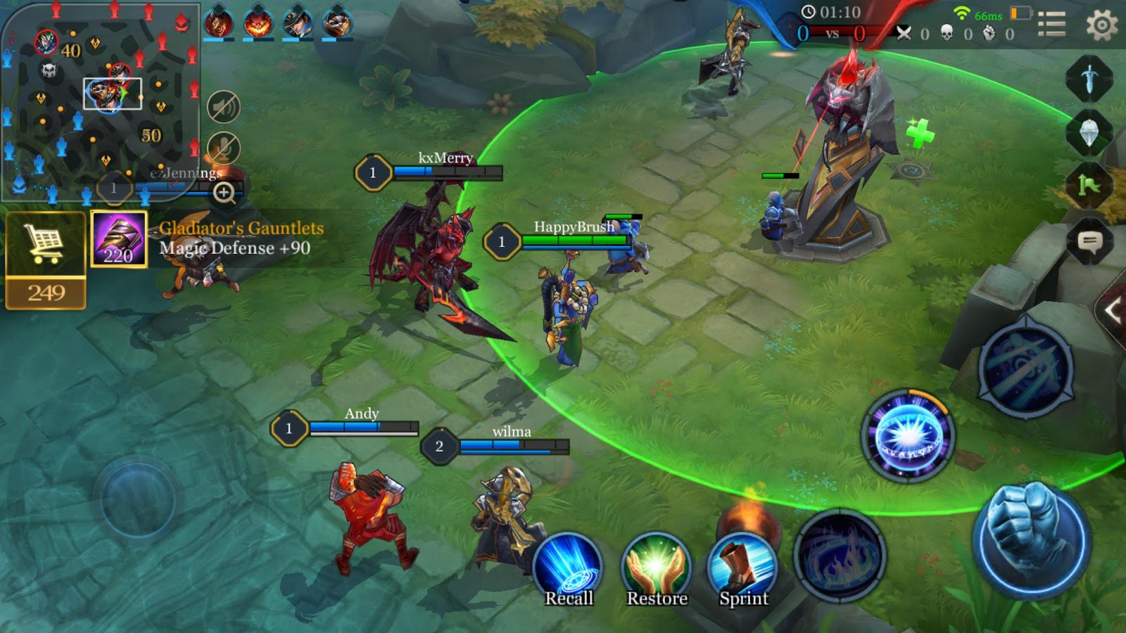 Capture d'écran Arena of Valor iOS