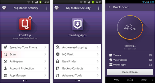 Capture d'écran NQ Mobile Security&Antivirus Android