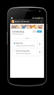 Capture d'écran Master Call Blocker