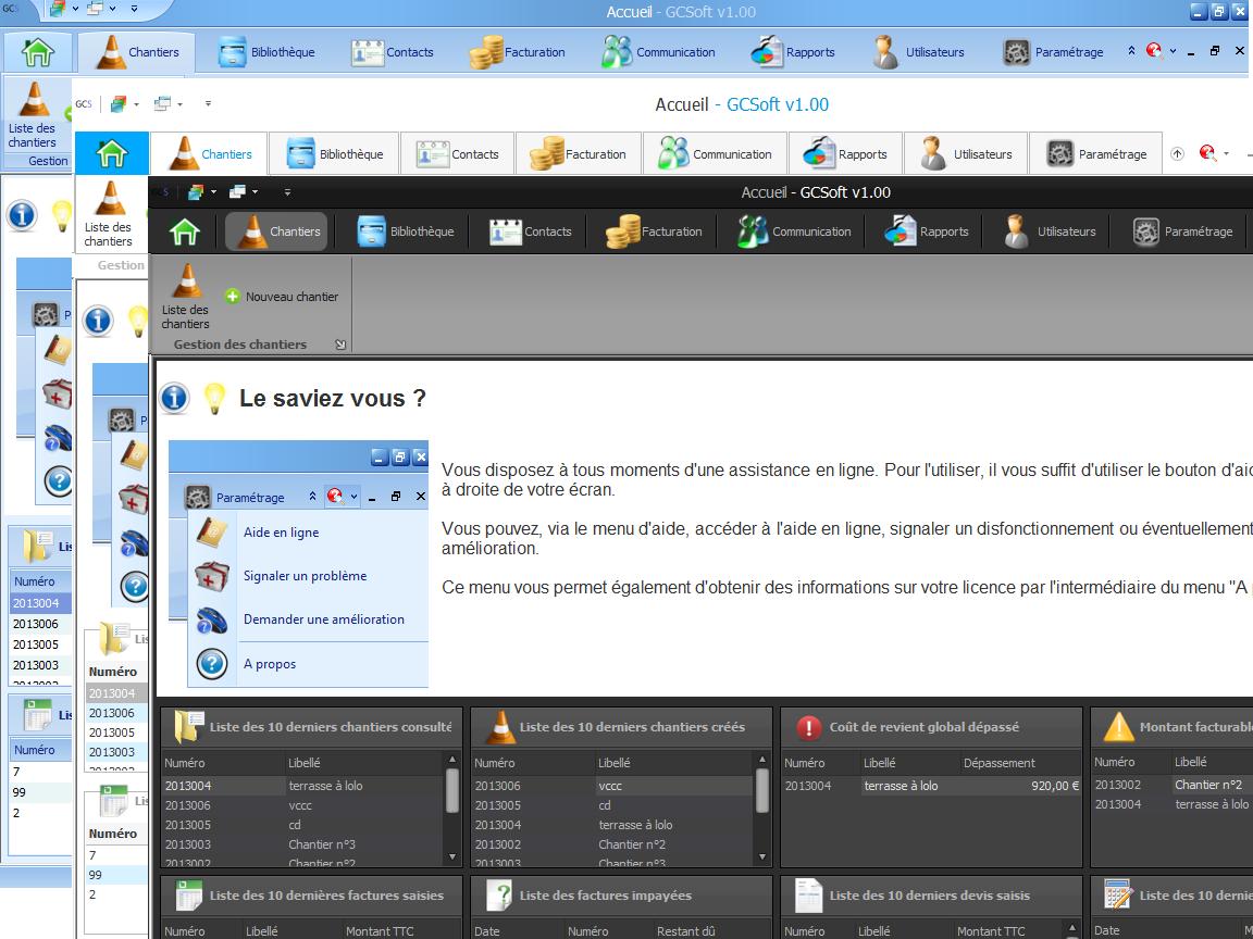 Capture d'écran GCSoft 2.30