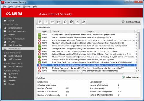 Capture d'écran Avira Internet Security Plus 2013