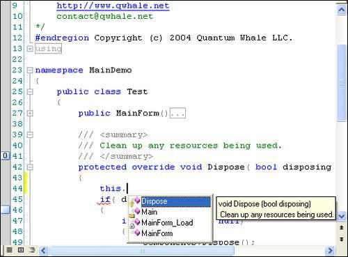 Capture d'écran Editor.NET