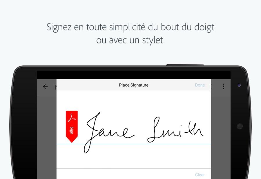 Capture d'écran Adobe Fill and Sign
