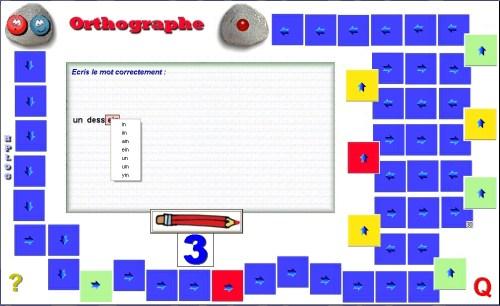 Capture d'écran Orthographe