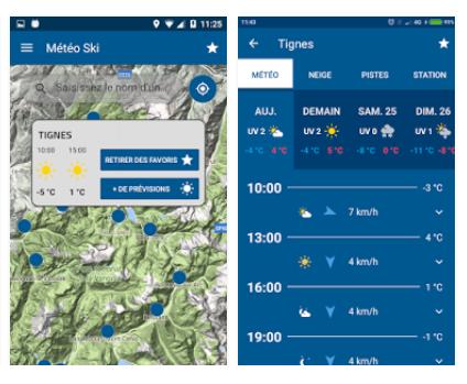 Capture d'écran Météo France Ski et Neige pour Android
