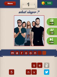 Capture d'écran Guess The Singer ?