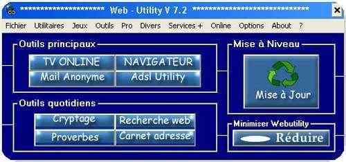 Capture d'écran Web Utility