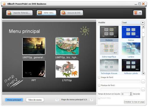 Capture d'écran Xilisoft Powerpoint en DVD