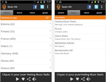Capture d'écran Radio FM Android