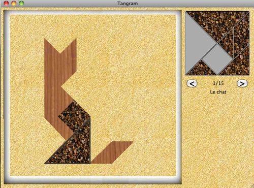 Capture d'écran tangram