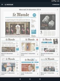 Capture d'écran Journal Le Monde