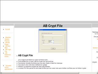 Capture d'écran Abcryptfile