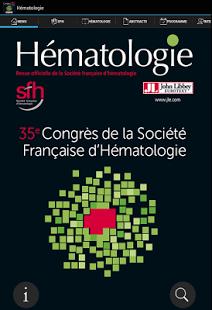 Capture d'écran Hématologie congrès SFH 2015