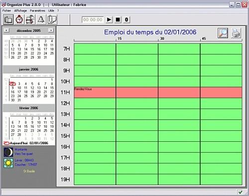 Capture d'écran Organize Plus