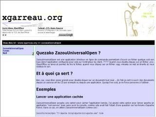 Capture d'écran ZazouUniversalOpen