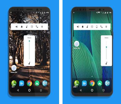 Capture d'écran Android P Volume Slider