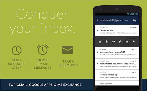Capture d'écran Email App Gmail