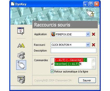 Capture d'écran DynKey