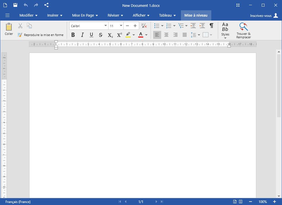 Capture d'écran OfficeSuite Basic