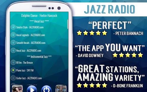 Capture d'écran Radio Jazz