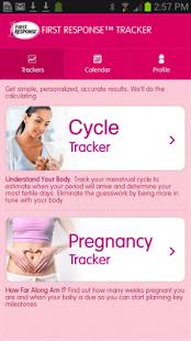 Capture d'écran First Response Tracker