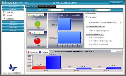 Capture d'écran B-Association WEB