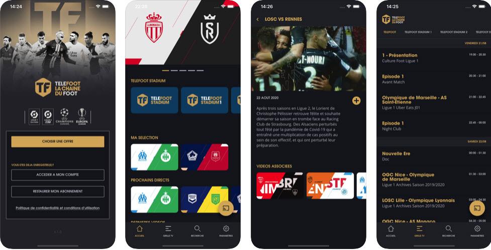 Capture d'écran Téléfoot iOS