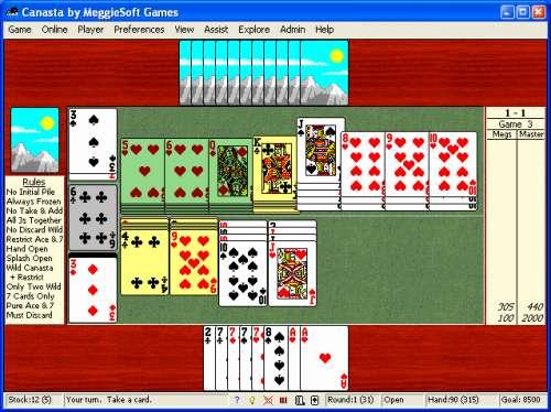 Capture d'écran Canasta by MeggieSoft Games