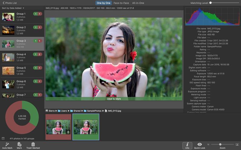 Capture d'écran PhotoSweeper