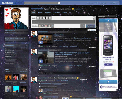 Capture d'écran Social Plus