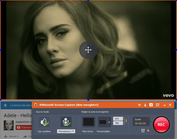 Capture d'écran 4Videosoft Screen Capture