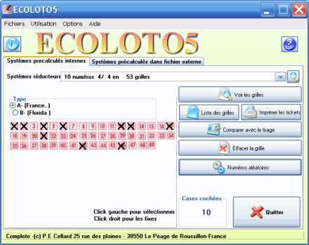 Capture d'écran ECOLOTO5