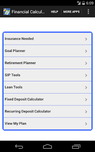 Capture d'écran Financial Calculator