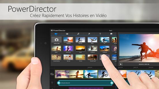 Capture d'écran PowerDirector – Éditeur Vidéo
