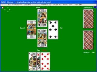 Capture d'écran Tarot à jouer à 4 : Féd.Fr.Tarot