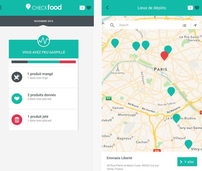 Capture d'écran Checkfood iOS