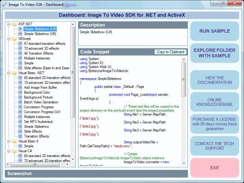Capture d'écran Bytescout Image To Video SDK