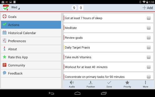 Capture d'écran List-Daily Success Checklist