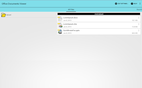 Capture d'écran Office Documents Viewer (Free)