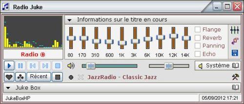 Capture d'écran Radio Juke
