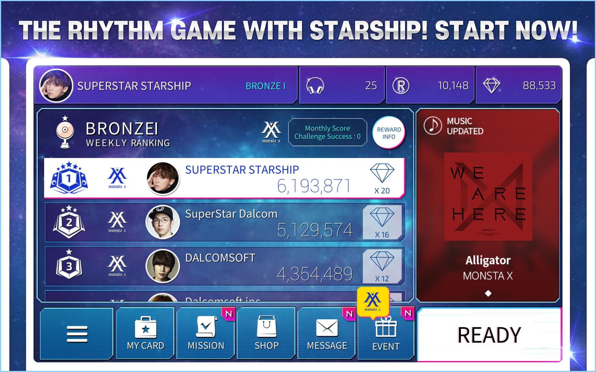 Capture d'écran SuperStar STARSHIP