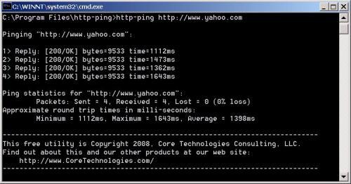 Capture d'écran http-ping