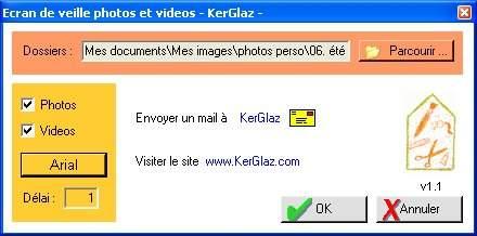 Capture d'écran Ecran de veille Mes Photos KerGlaz
