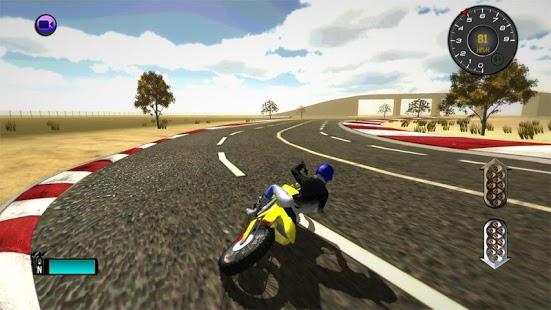 Capture d'écran Simulateur de motocross