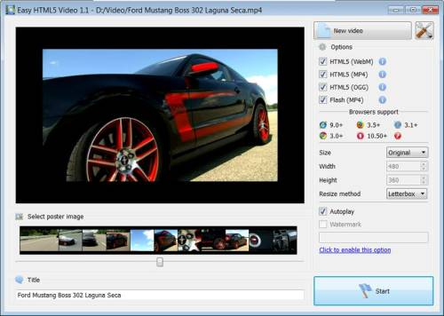 Capture d'écran Easy Html5 Video for Mac