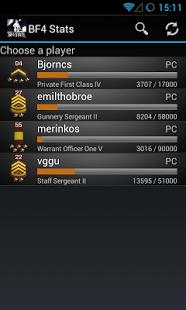 Capture d'écran Battlefield BF4 Stats Premium