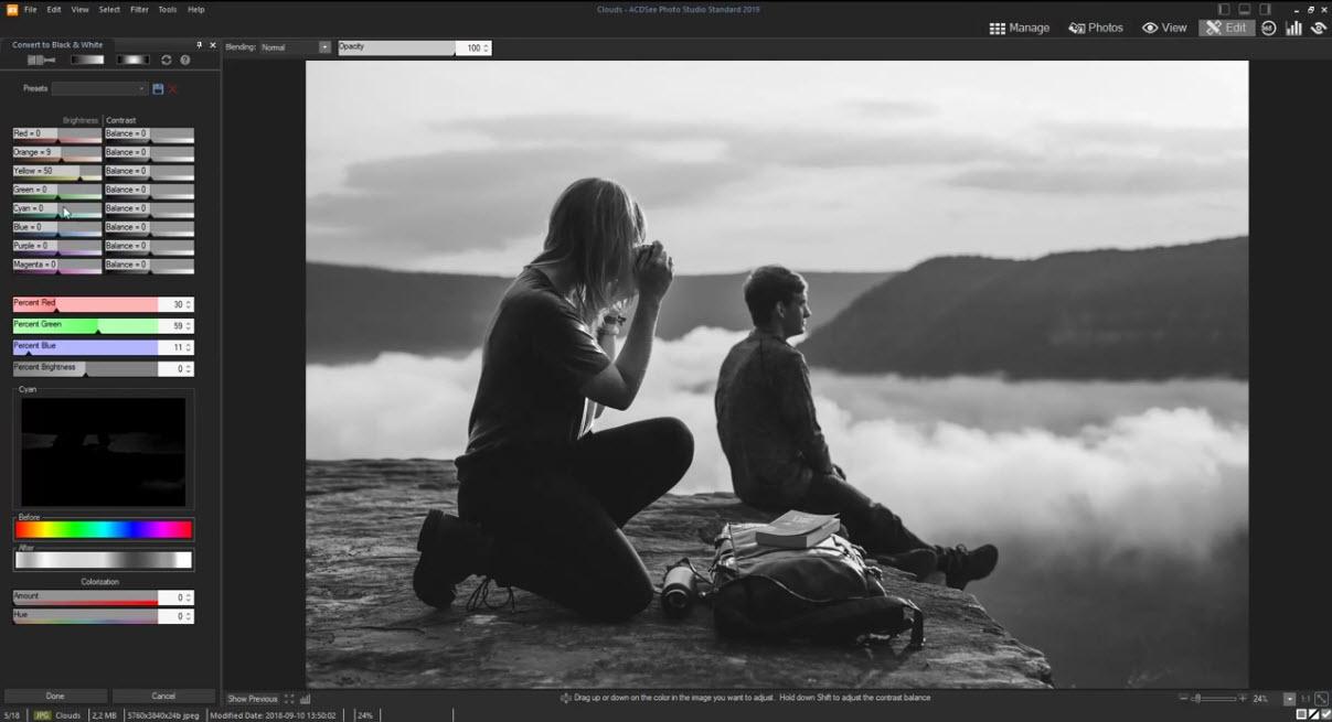 Capture d'écran ACDSee Photo Studio Home 2021