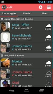 Capture d'écran Enregistrement d'appel